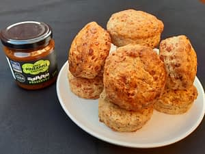 Spicy Pineapple and Cheese Scones