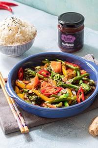 Stir fry vegetable recipe with Matthew's Preserved Plum Sauce
